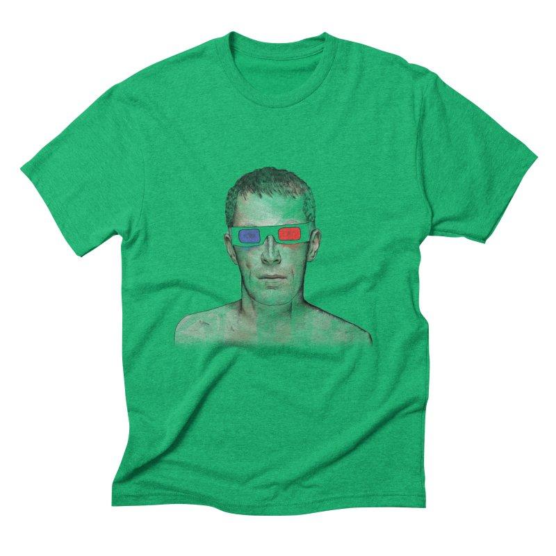 3D dude Men's Triblend T-shirt by Boshik's Tshirt Shop