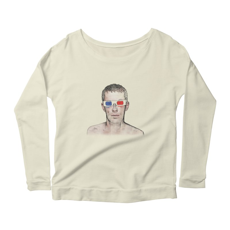 3D dude Women's Longsleeve Scoopneck  by Boshik's Tshirt Shop