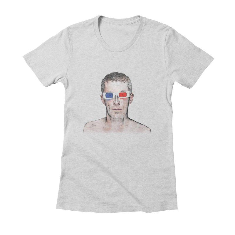 3D dude Women's Fitted T-Shirt by Boshik's Tshirt Shop