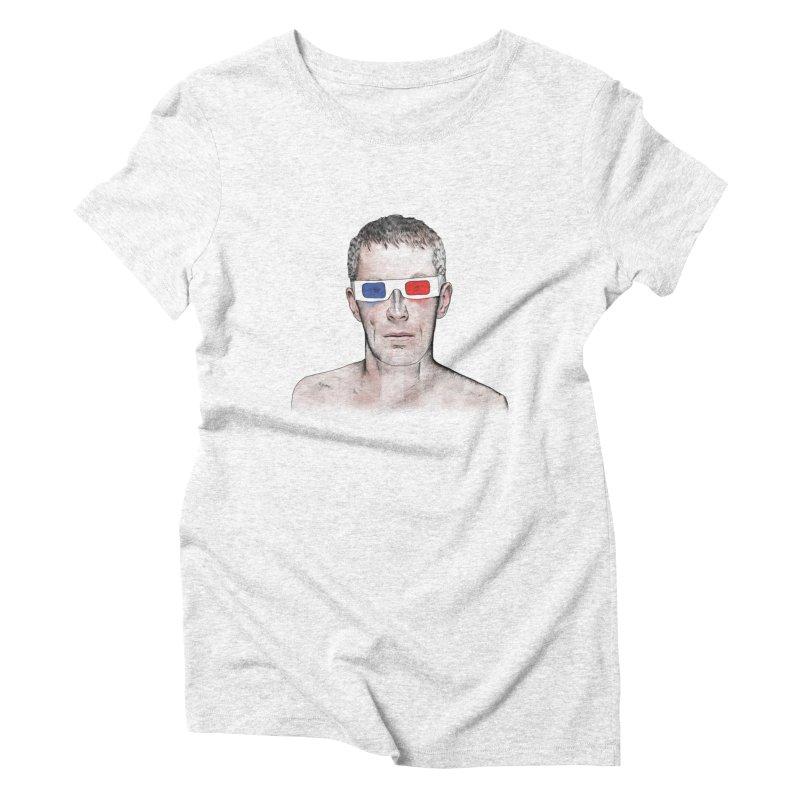 3D dude Women's Triblend T-shirt by Boshik's Tshirt Shop