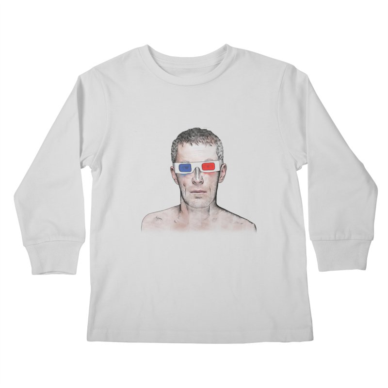 3D dude Kids Longsleeve T-Shirt by Boshik's Tshirt Shop