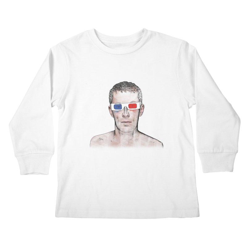 3D dude Kids Longsleeve T-Shirt by Boshik's Tshirt Shop
