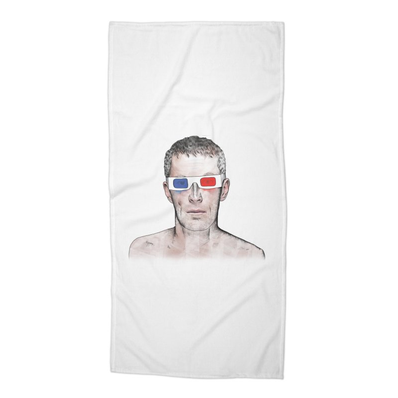 3D dude Accessories Beach Towel by Boshik's Tshirt Shop