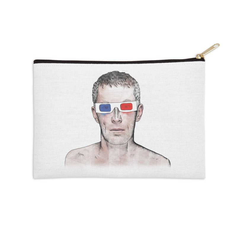 3D dude Accessories Zip Pouch by Boshik's Tshirt Shop