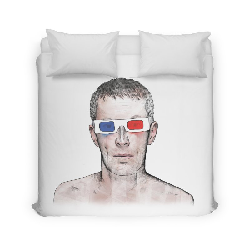 3D dude Home Duvet by Boshik's Tshirt Shop
