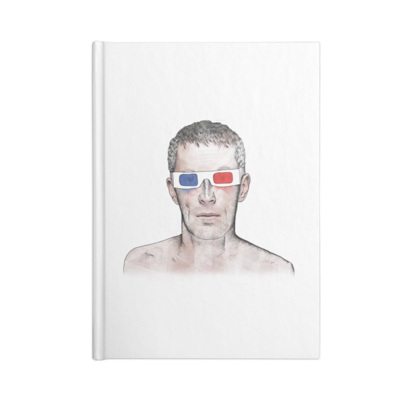 3D dude Accessories Notebook by Boshik's Tshirt Shop