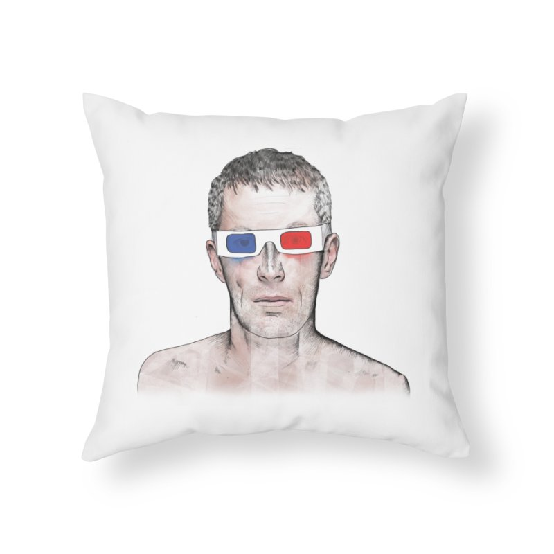 3D dude Home Throw Pillow by Boshik's Tshirt Shop