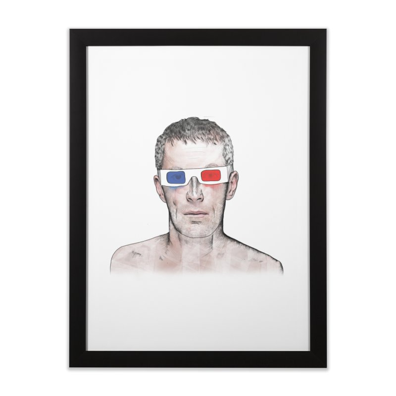 3D dude Home Framed Fine Art Print by Boshik's Tshirt Shop
