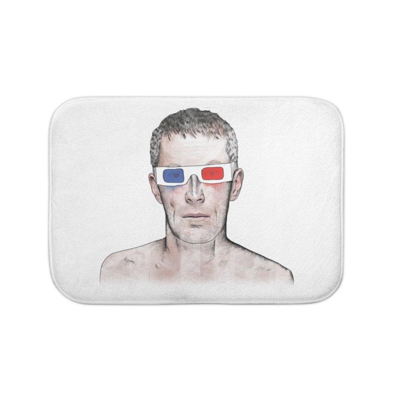 3D dude Home Bath Mat by Boshik's Tshirt Shop