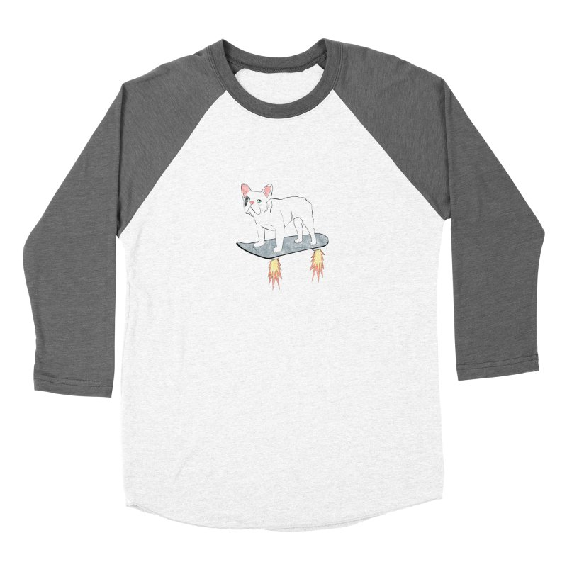 Hover Dog Women's Baseball Triblend Longsleeve T-Shirt by Boshik's Tshirt Shop