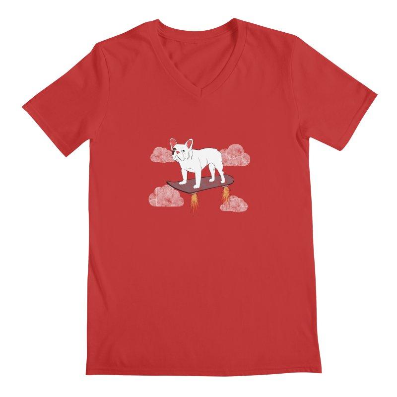 Hover Dog Men's V-Neck by Boshik's Tshirt Shop