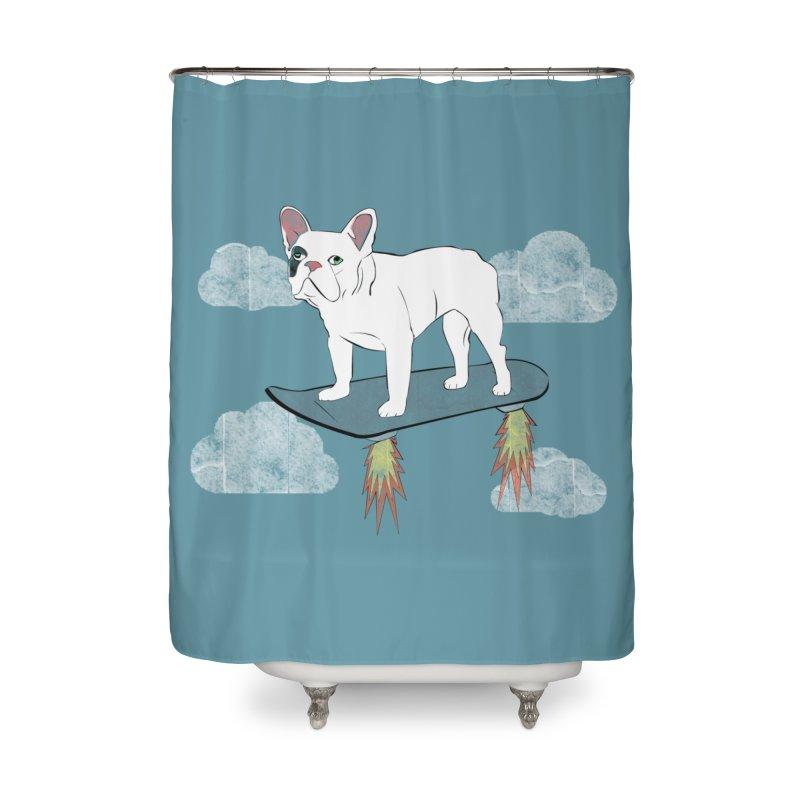Hover Dog Home Shower Curtain by Boshik's Tshirt Shop