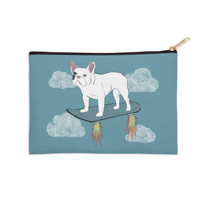 Hover Dog Accessories Zip Pouch by Boshik's Tshirt Shop