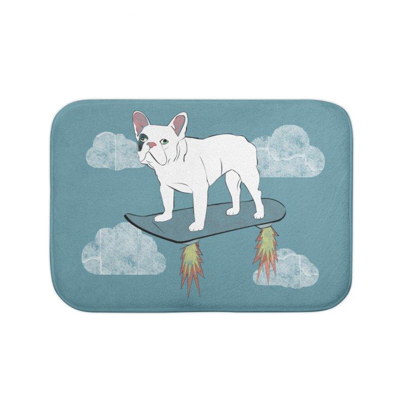 Hover Dog Home Bath Mat by Boshik's Tshirt Shop