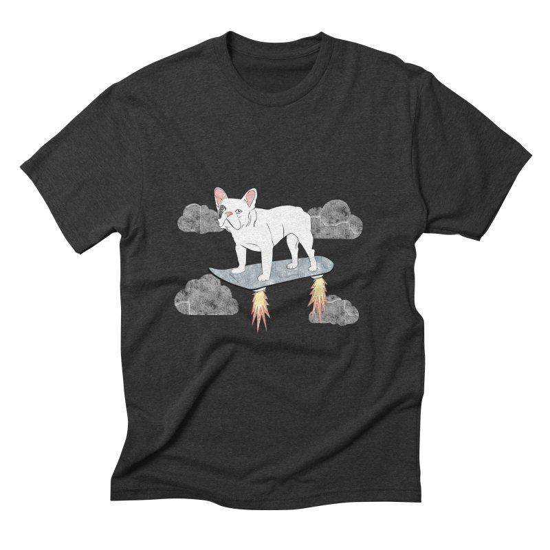 Hover Dog Men's Triblend T-shirt by Boshik's Tshirt Shop