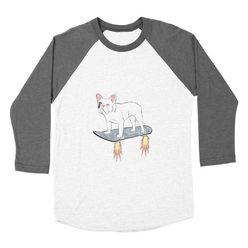 Hover Dog Men's Baseball Triblend T-Shirt by Boshik's Tshirt Shop