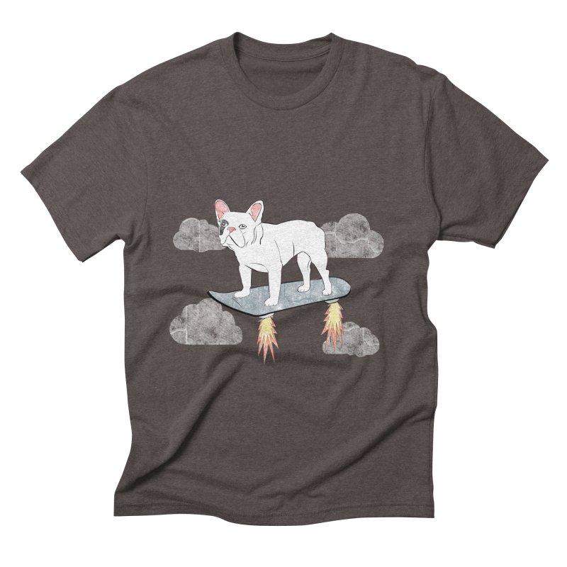 Hover Dog Men's Triblend T-shirt by Boshik's Tshirt Shop
