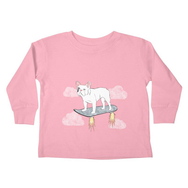 Hover Dog Kids Toddler Longsleeve T-Shirt by Boshik's Tshirt Shop