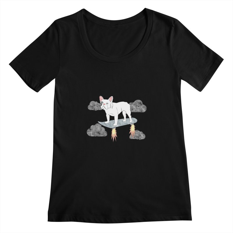 Hover Dog Women's Scoopneck by Boshik's Tshirt Shop