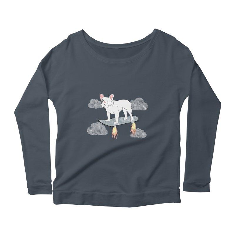 Hover Dog Women's Longsleeve Scoopneck  by Boshik's Tshirt Shop
