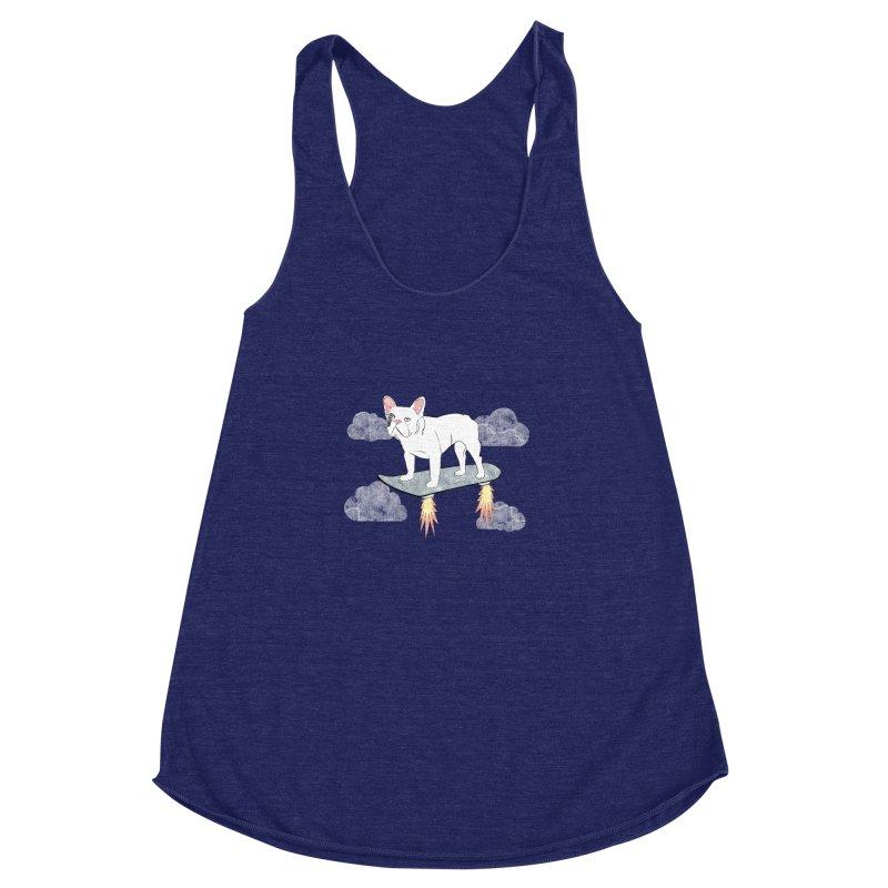 Hover Dog Women's Racerback Triblend Tank by Boshik's Tshirt Shop