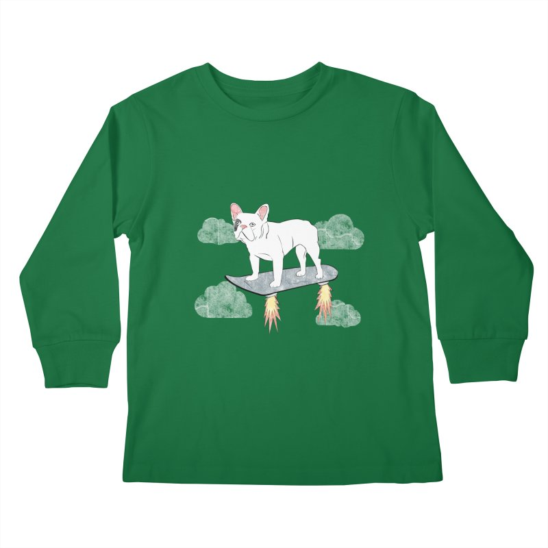 Hover Dog Kids Longsleeve T-Shirt by Boshik's Tshirt Shop