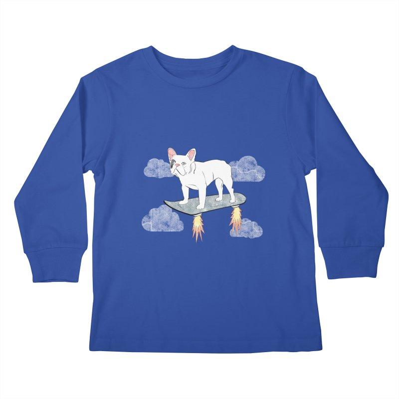 Hover Dog Kids Longsleeve T-Shirt by Boshik's Tshirt Shop