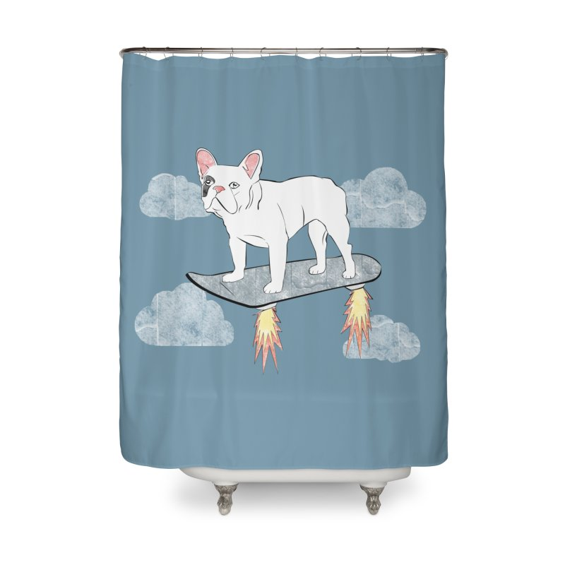 Hover Dog Home Shower Curtain by Boshik's Tshirt Shop