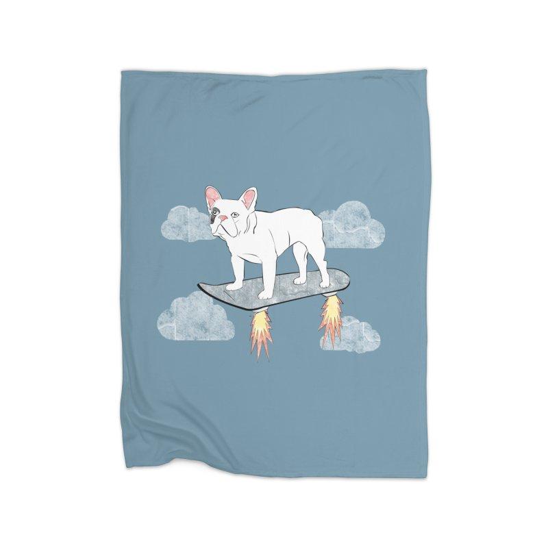 Hover Dog Home Blanket by Boshik's Tshirt Shop