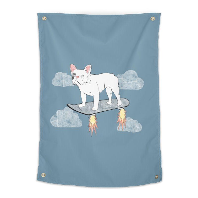 Hover Dog Home Tapestry by Boshik's Tshirt Shop