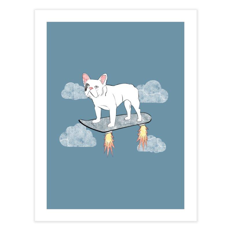 Hover Dog Home Fine Art Print by Boshik's Tshirt Shop