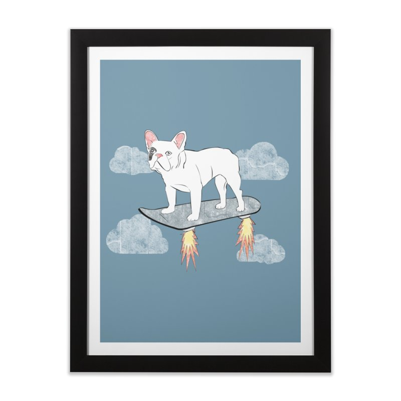 Hover Dog Home Framed Fine Art Print by Boshik's Tshirt Shop