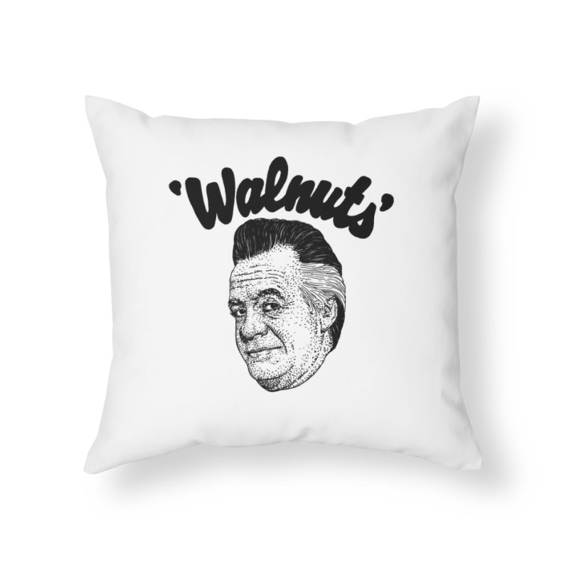 WALNUTS Home Throw Pillow by Boss Trés Bien