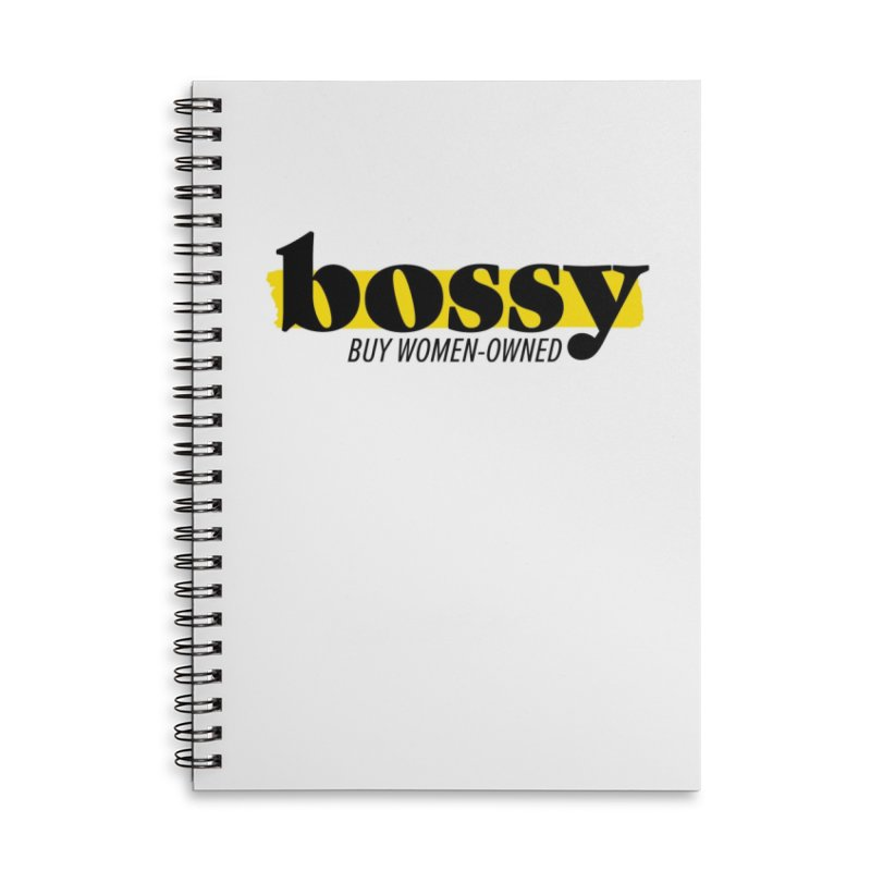 Classic Accessories Lined Spiral Notebook by Bossy Chicago
