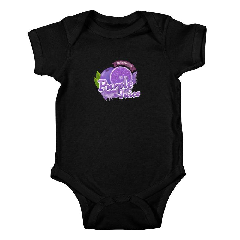 Purple Juice Kids Baby Bodysuit by Bots & Bits Realm of Merch