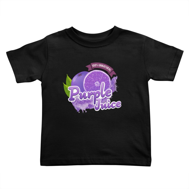 Purple Juice Kids Toddler T-Shirt by Bots & Bits Realm of Merch