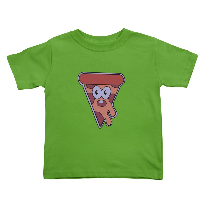 Crazy for Pizza Kids Toddler T-Shirt by Bots & Bits Realm of Merch