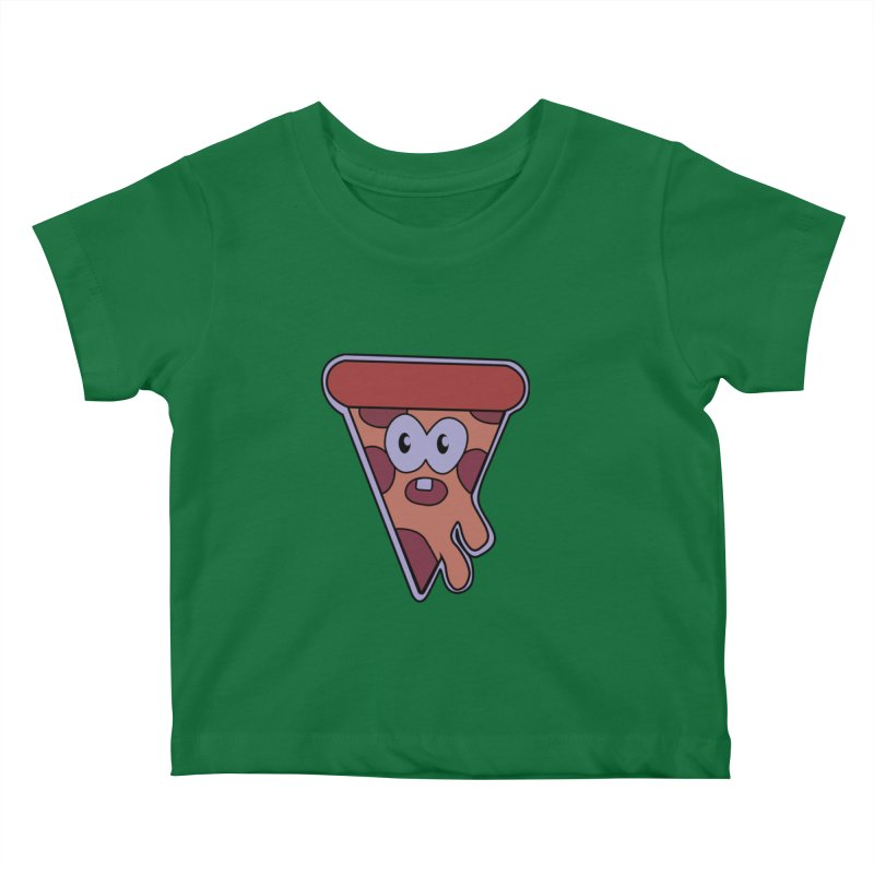 Crazy for Pizza Kids Baby T-Shirt by Bots & Bits Realm of Merch