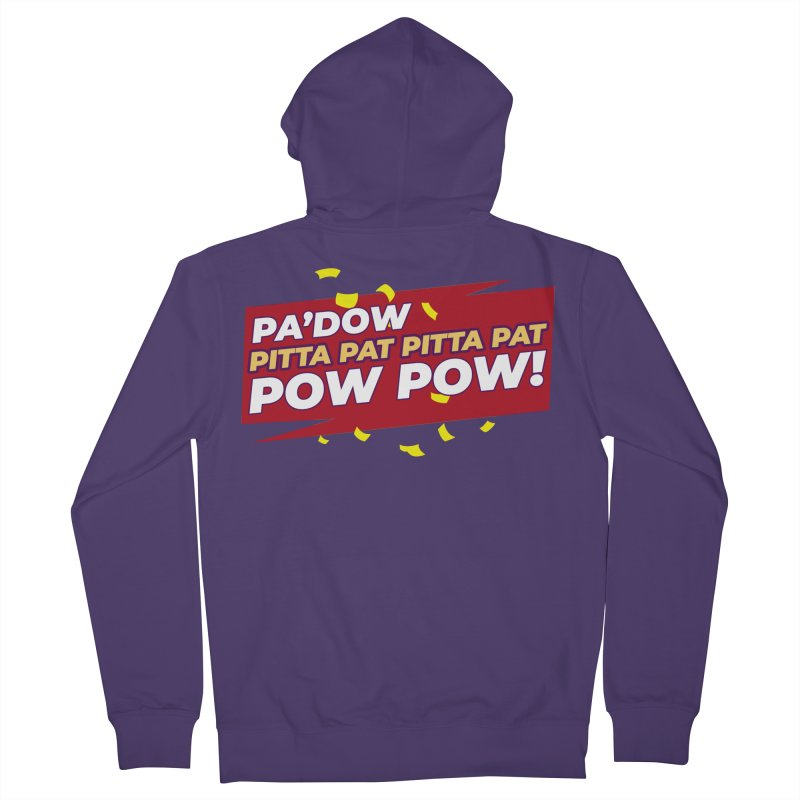 Opti Pow Women's Zip-Up Hoody by Bots & Bits Realm of Merch
