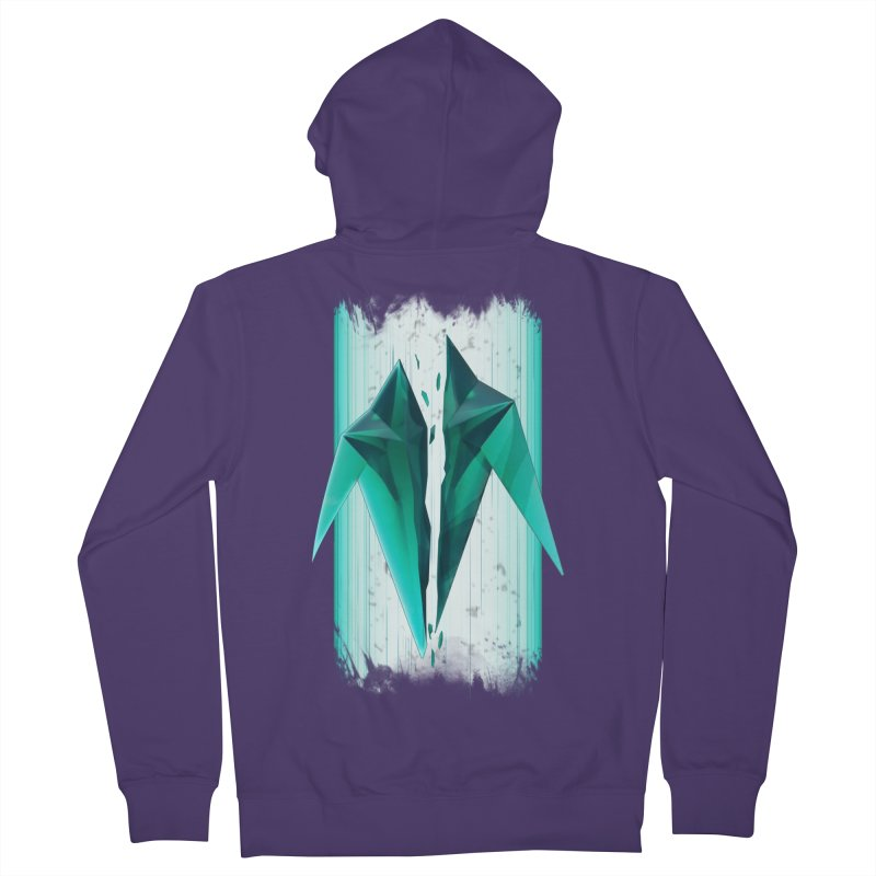 Shattered Tekka Crystal Women's Zip-Up Hoody by Bots & Bits Realm of Merch
