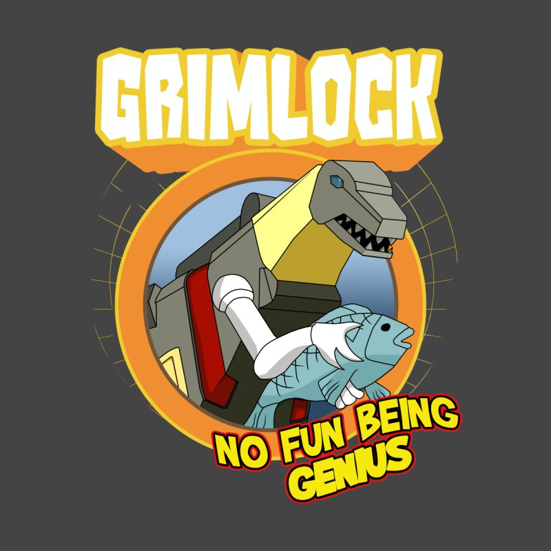 Grimlock no genius Men's T-Shirt by Bots & Bits Realm of Merch