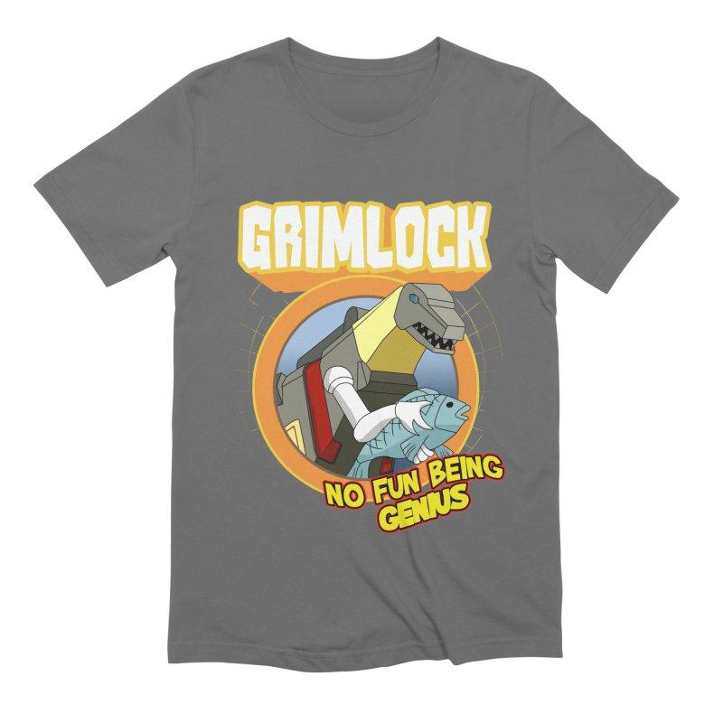Grimlock no genius Men's T-Shirt by Bots & Bits Realm of Merch
