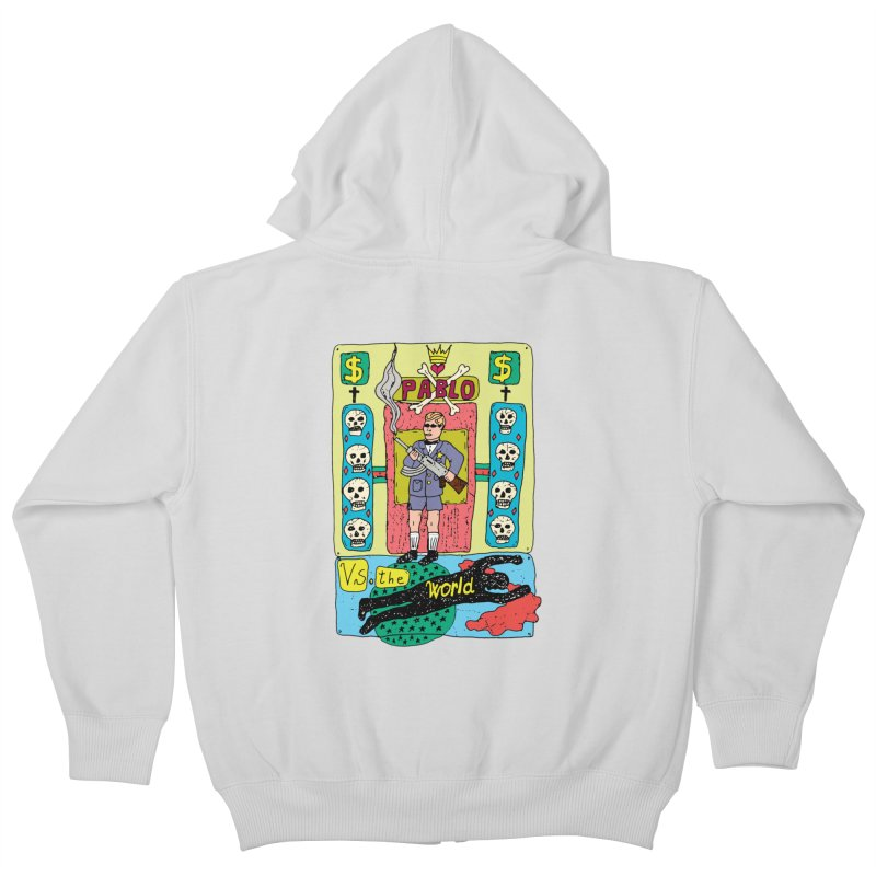 Pablo Vs. the world Kids Zip-Up Hoody by Bottone magliette