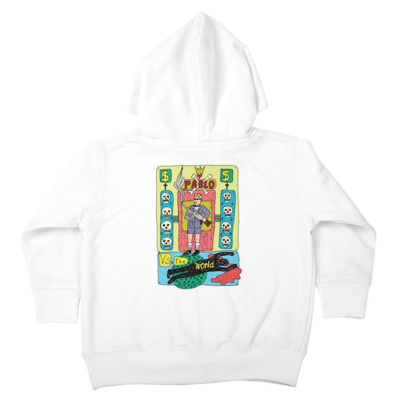 Pablo Vs. the world Kids Toddler Zip-Up Hoody by Bottone magliette