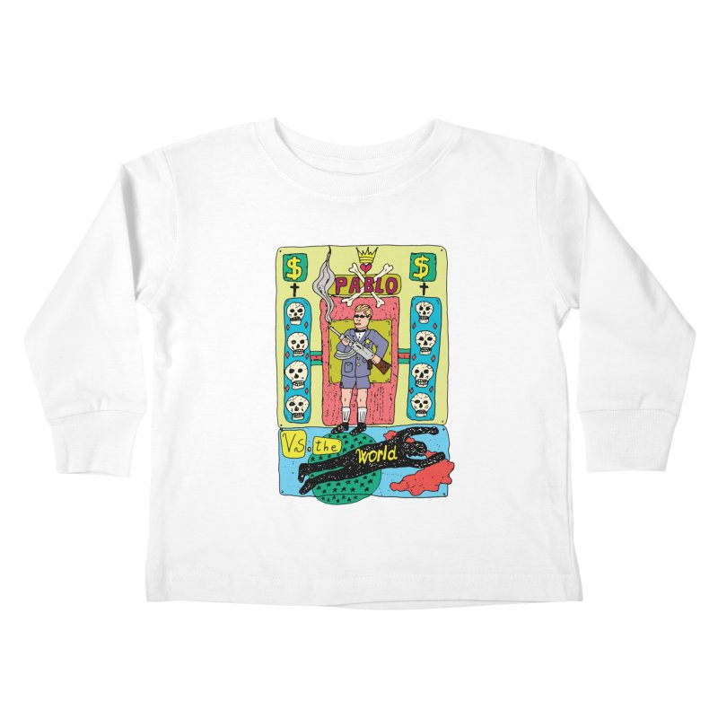 Pablo Vs. the world Kids Toddler Longsleeve T-Shirt by Bottone magliette