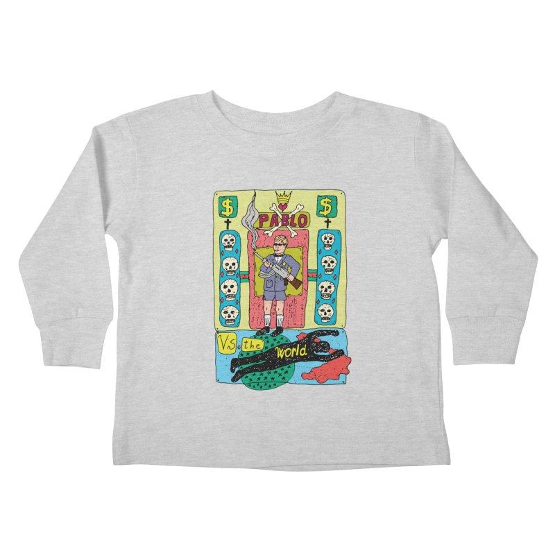 Pablo Vs. the world Kids Toddler Longsleeve T-Shirt by Bottone magliette