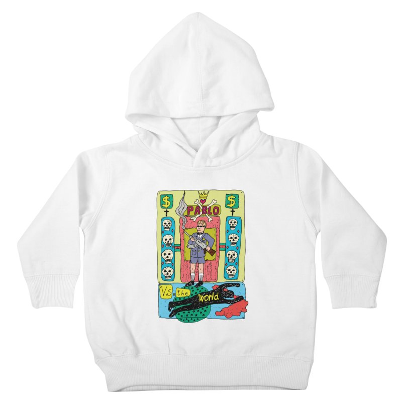 Pablo Vs. the world Kids Toddler Pullover Hoody by Bottone magliette
