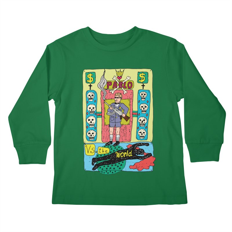 Pablo Vs. the world Kids Longsleeve T-Shirt by Bottone magliette