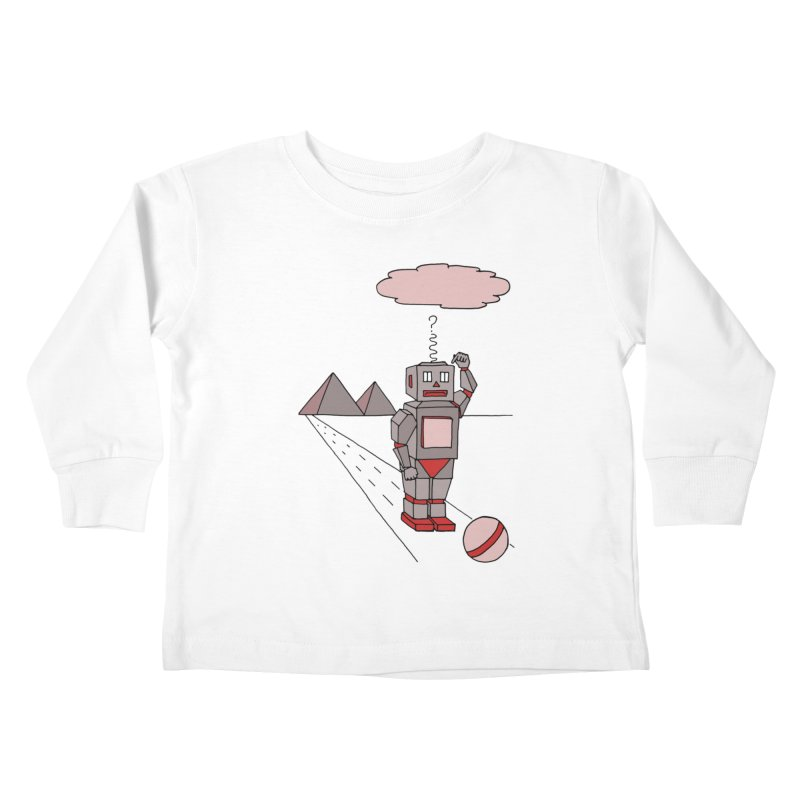 Robò Tino Kids Toddler Longsleeve T-Shirt by Bottone magliette