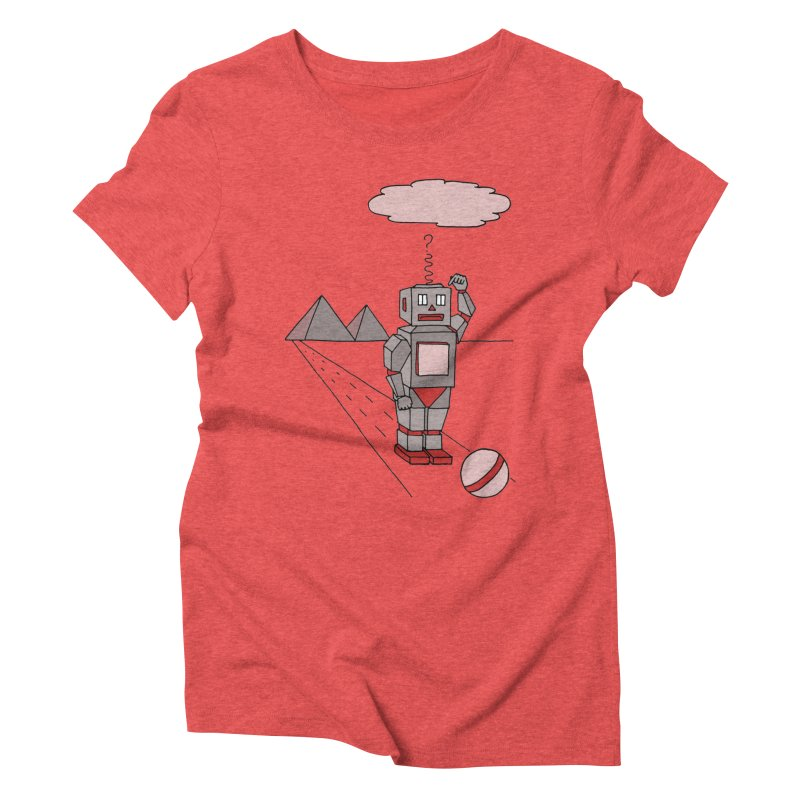 Robò Tino Women's Triblend T-Shirt by Bottone magliette